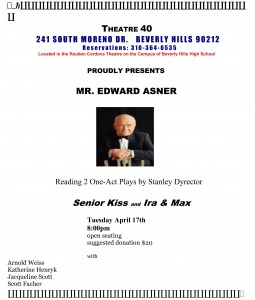 Microsoft Word - THEATRE 40 FLYER ED ASNER